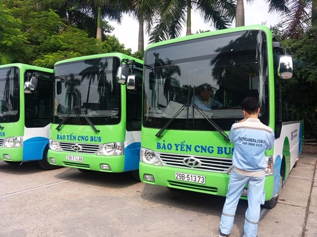 Lắp đặt hệ thống camera trên xe buýt Bảo Yến