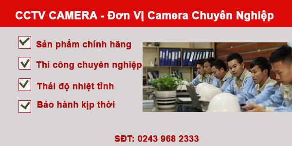 Đơn vị lắp đặt camera chuyên nghiệp