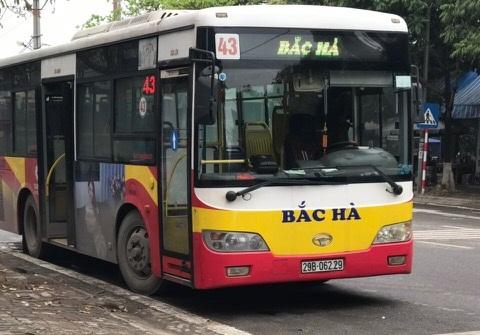 Lắp đặt 12 xe cho tuyến Bus 43