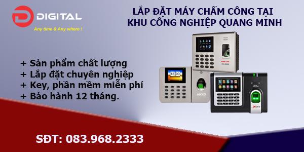 Lắp đặt máy chấm công tại khu công nghiệp Quang Minh